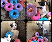 Cat Catnip Donut Toy, Cat Toy Donuts, Felt Donut Catnip Toys, Donut Catnip Toys, Donuts for Cats, Cat Toy, Catnip Toys, Handmade