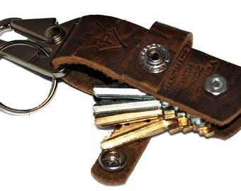 JP Leathercraft Handmade CLAVIS keychain Key Keeper Folklore Bison Leather