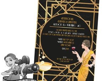 Gatsby / 1920s Invites