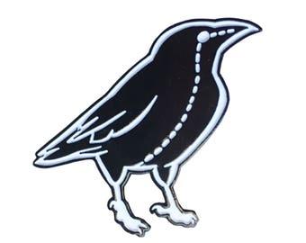Raven Stitch - Enamel Pin - by Denis Caron  - Corvink