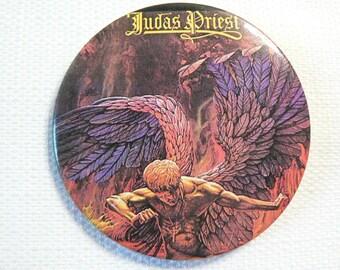 Vintage Late 70s Judas Priest - Sad Wings of Destiny Album (1976) - Pin / Button / Badge