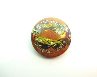 Vintage Early 80s Depeche Mode - People Are People Single (1984) Pin / Button / Badge