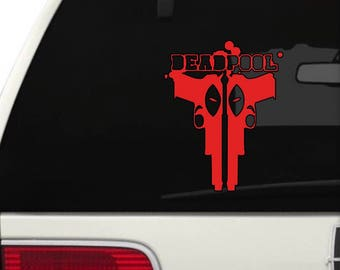 Deadpool Vinyl Wall/Car Decal - Vinyl Decal Sticker - Attach to Any Smooth Surface - Cars, Windows, Laptops, Walls, ect.