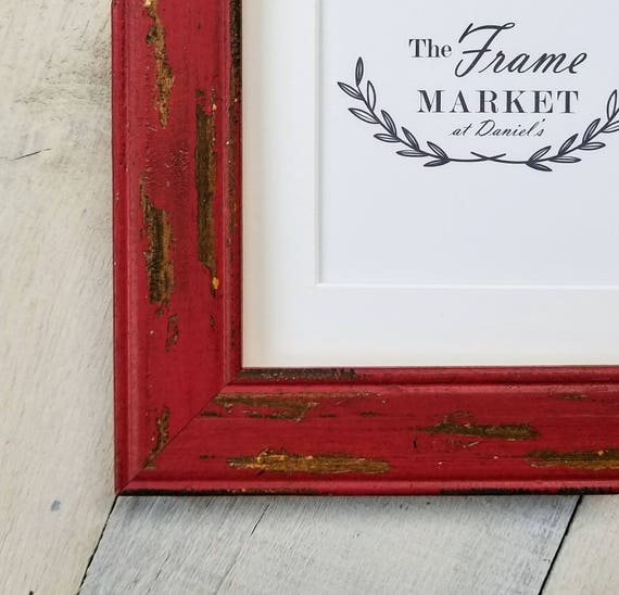 Benjamin Red Barn Wood Picture Frame With White Mat 8x10