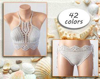 Crochet bikini, Festival bikini, Beach Wear Summer Trends , separate swimsuit by LoveKnittings