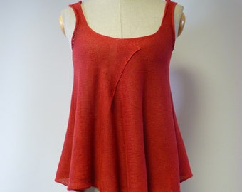 Special price. Summer coral linen top, M size. Only one sample.