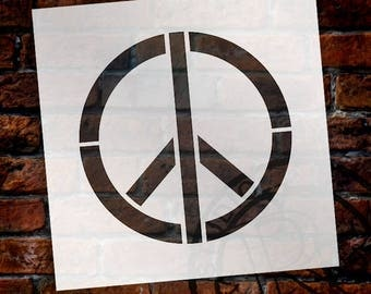 Peace Sign - Art Stencil - Select Size - STCL1260 by StudioR12