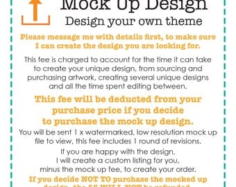 Mock Up Fee, Design Fee, Customised Listing, Add On