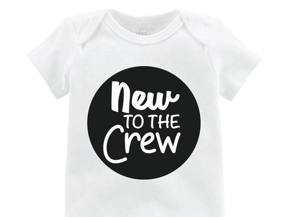 New to the Crew Boy Onesie Black New to the Crew Bodysuit Boy Coming Home Onesie Newborn Coming Home Bodysuit Hello World Boy Shirt Boy