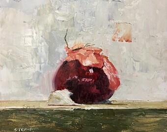 "Red Onion with Garlic 7""x7"""