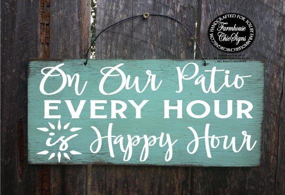 Patio Happy Hour Sign