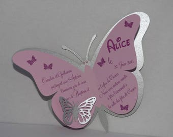 Silver Butterfly birth announcement