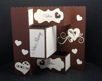 Wedding - invitation card theme fold 3