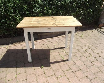 Alter table dining table with drawer timber shabby