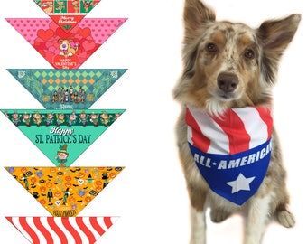 6pc Holiday Dog Bandanas - All The Major Holidays