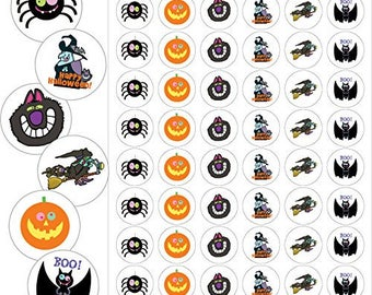 "Assorted Halloween Envelope Seals - 1.2"" Fun Halloween Stickers - 144 Stickers - 25139"