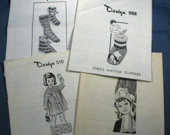 Vintage Children's Knitting Patterns
