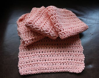 Peach cotton wash or dishcloths