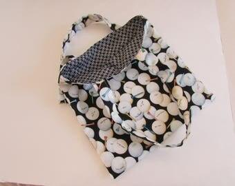 Golf Tote Bag,  Black and White Golf Ball Tote Bag