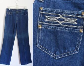 Vintage Denim - Straight Leg - Dark Blue Jeans - by French Star