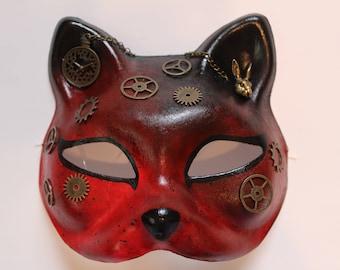 stream punk cat mask