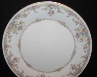 "ON SALE Noritake GALLERY 7246 Bread & Butter Plate Dinnerware Floral Rim Ivory Excellent Condition 6 3/8"" inches in diameter"