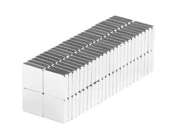 1/4 x 1/4 x 1/16 inch Neodymium Rare Earth Block Magnets N48 (100 Pack)