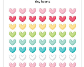 Doodle bug tiny hearts sprinkles stickers