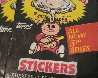 Garbage Pale Kids- Card Pack Wrappers- Vintage- Crafts
