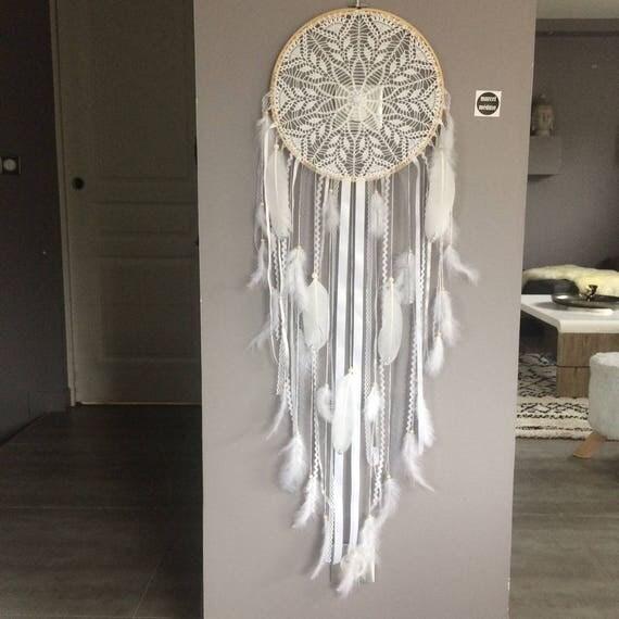 Attrape Reve Geant : attrape r ves dreamcatcher geant en dentelle plumes et ~ Teatrodelosmanantiales.com Idées de Décoration
