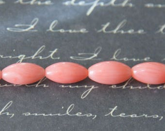 5 4x9mm coral rice beads