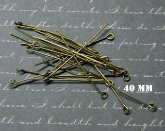 20 nails 40mm bronze metal eyelet