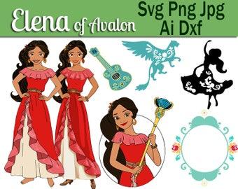 Elena of avalor svg,Elena of avalor Dxf,Elena of avalor ai,Elena png,Elena cricut,Elena cut out,Elena vinyl,Elena iron on,elena disney.