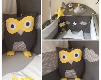 Plush or plush OWL or OWL and grey star unique and original handmade gift