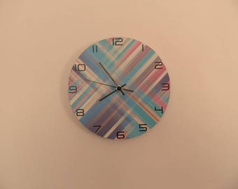 Modern coloured wall clock,  kids room  coloured,  Housewares, nurcery wall clock, gift for boys or girls,  animal wall clock