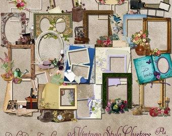 Vintage Style Cluster Frames