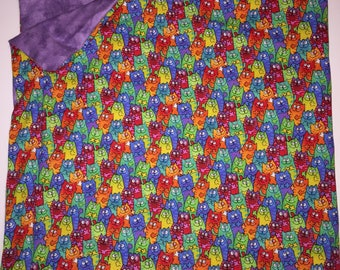 Sensory WEIGHTED BLANKET Silly Kitty Cats 5 lbs. Handmade New Autism