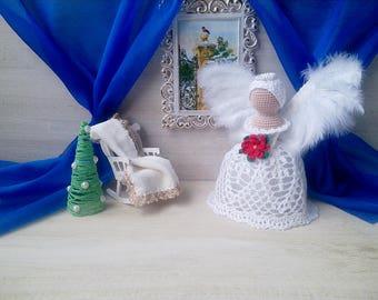 Crochet angel, Angel figurine baby, Angel statue, christmas decoration, angel amigurumi, guardian angel, ready work