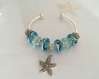 Charm's blue Bangle with starfish series holiday ref 529