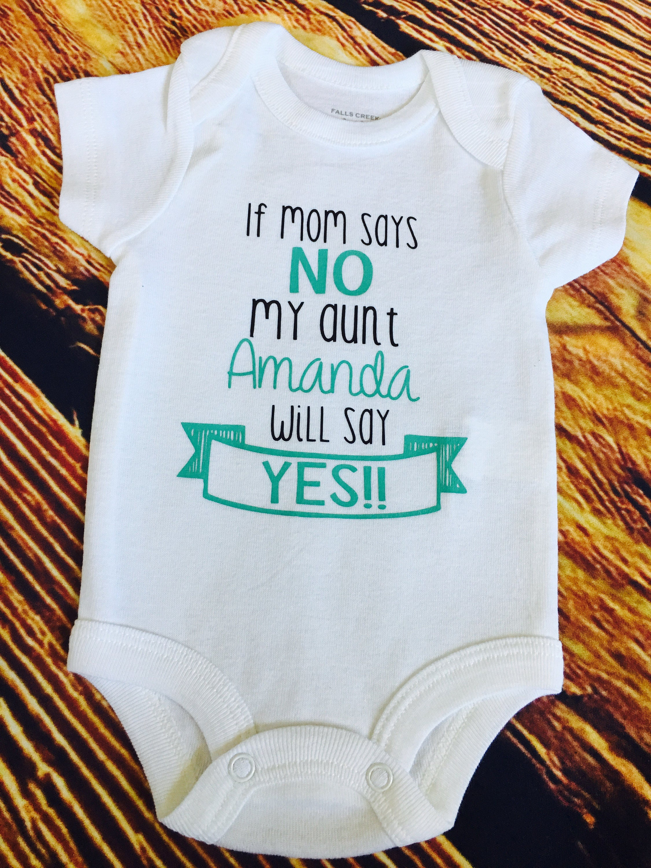 If mom says no aunt will say yes Auntie baby Uncle baby Custom