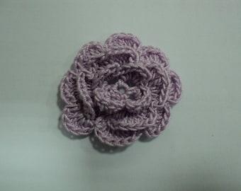 SET of 10 flowers MAUVES to CROCHET for EMBELISSEMENT ref: z37