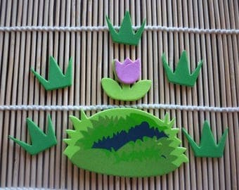 Easter floral foam, sold as a set of 7.