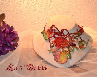 Multicolor UNIQUE lace wedding necklace