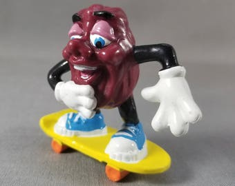 California Raisin ~ Skate Board Figure ~ Cake Topper ~ California Raisin Figure ~  Collectible ~ PVC Toy ~ My Nostalgic Life