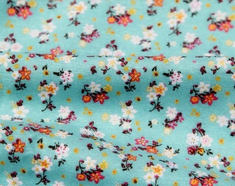 Chinese fabrics cotton white lily flowers