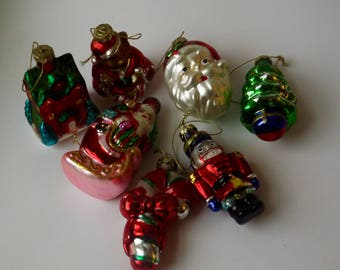 Lot of 7 Vintage Christmas Ornaments