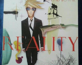 David Bowie Poster Reality flat slick Original Record Store promo poster Album Flat NM David Bowie slick Bowie picture RARE!