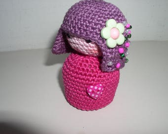 small decorative kokeshi crochet
