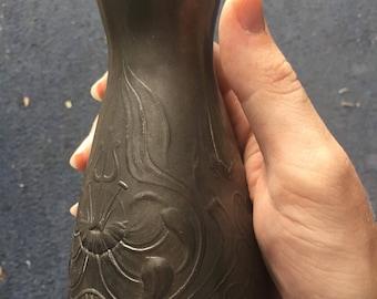 Circa 1900 Kayserzinn Art Nouveau Jugendstil Vase
