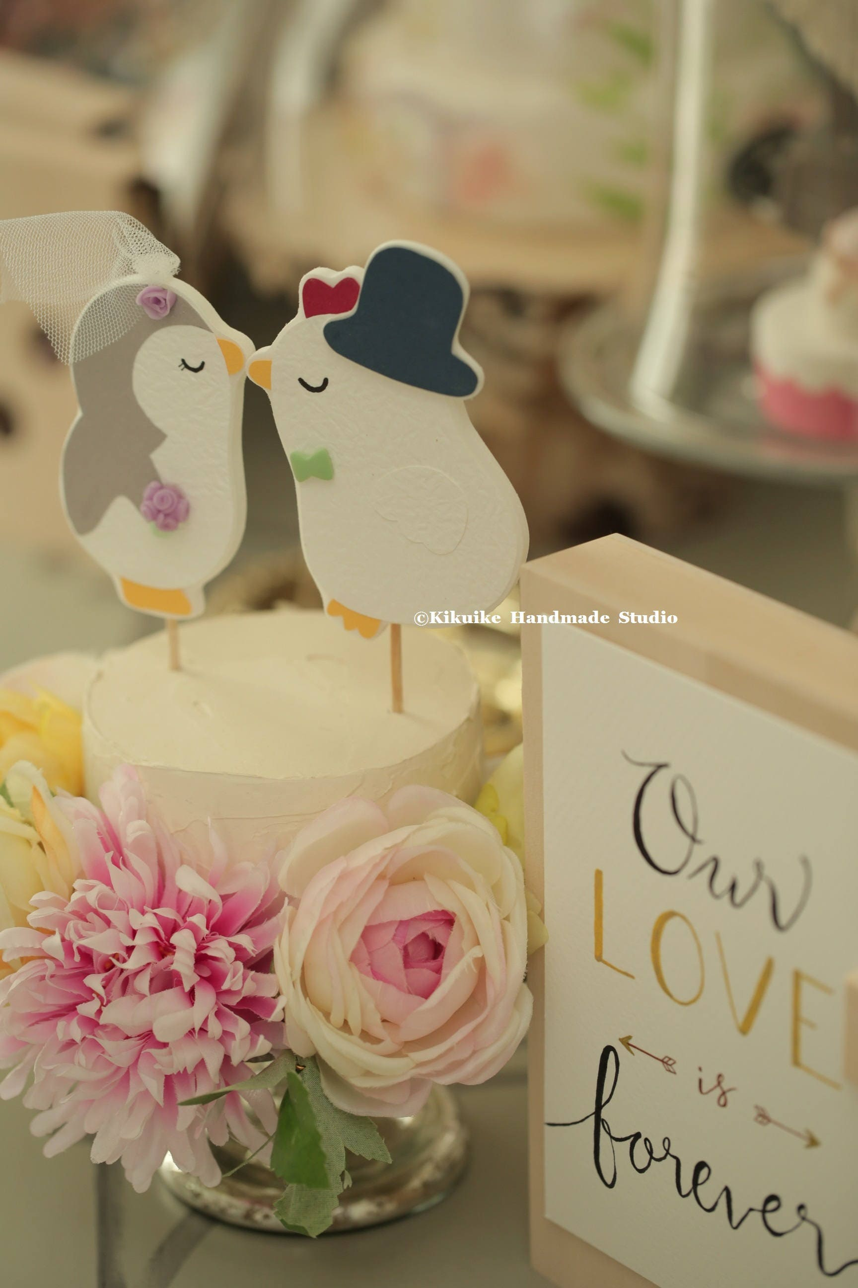 penguin and chicken Wedding Cake Topper,rooster Wedding Cake topper ...